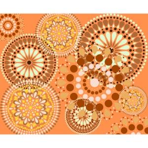 Fleur Hippie orange