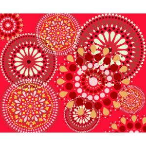 Fleur Hippie rouge