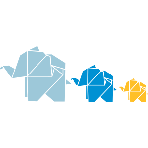 Origami, Elefant, Familie, Natur, Tier, Geschenk