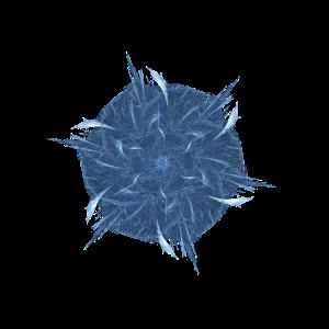 Blaues Fraktal
