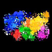 Wasserfarben Weltkarte