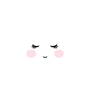 Wolke mit Gesicht, schlafend