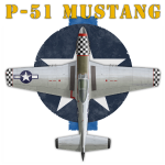 P-51 Mustang shirt design