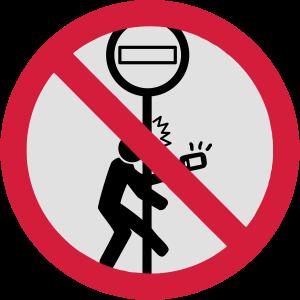 Kein Smartphoning beim Gehen