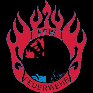 Flamme Feuerwehr FFW  Logo 3farbig