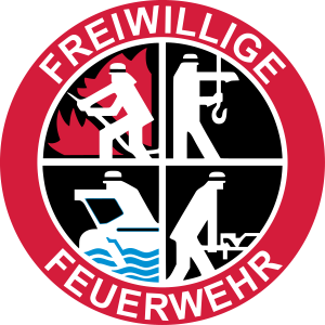 Freiwillige Feuerwehr Logo 3farbig