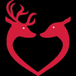 Weihnachten Rentier Herz