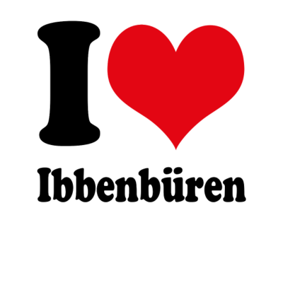 I love Ibbenbüren - I love Ibbenbüren - Liebst Du Ibbenbüren weil Du Ibbenbürener bist oder weil Du die Stadt einfach so toll findest? Bekenne Dich jetzt zu Deiner Heimatstadt und beweise Heimatliebe. - love,liebe,ich liebe,i love,heimatstadt,heimatliebe,Wappen,Städte,Stadtwappen,Stadt,Ibbenbürener,Ibbenbüren,Flagge,Deutschland,Deutsch