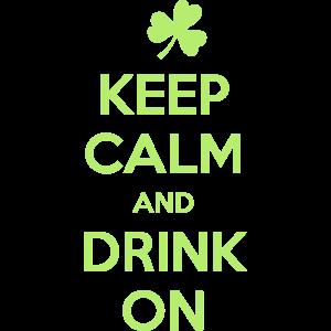Halten Sie Ruhe und trinken auf