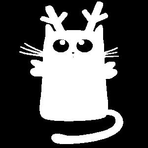 Weihnachten Katze Rentier