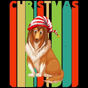 Retro Weihnachtsgeschenke für Familie und Freunde. Hund