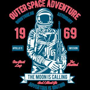 THE MOON - Kosmonauten Astronauten Shirt Motiv