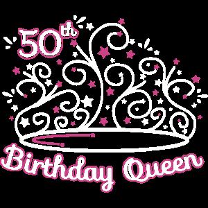 50 Geburtstag / Jahre 50th Birthday Queen Geschenk