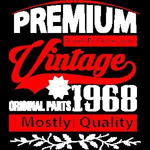 Aged to Perfection 1968 Geburtstag Shirt Geschenk