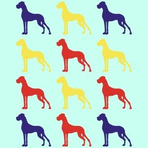 Drei Farben Komposition