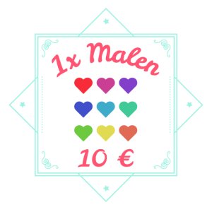 Junggesellinen Abschied Party Malen = 10€