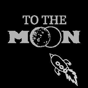 Rakete Himmel Zum Mond Mondreise Weltraum
