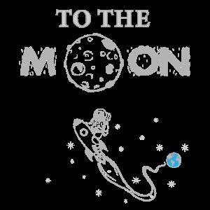 Weltraum Rakete Zum Mond Mondreise Himmel