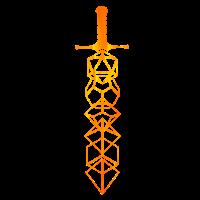 Schwert Würfel Prisma Zeichnung Gamer Kristall