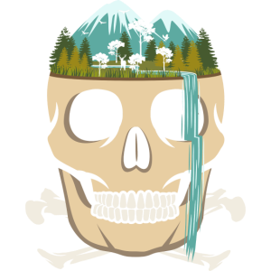 Skull Waterfall - Skelett Wasserfall - Surreal