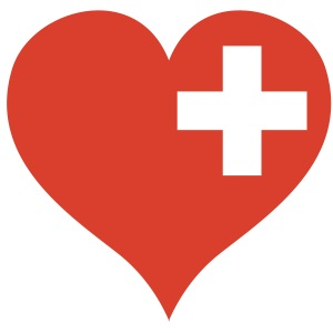 swiss heart red