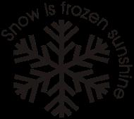 ApresSki-Shirt: snow is frozen sunshine