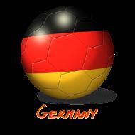 Fan-Shirt: Fussball Deutschland Flagge