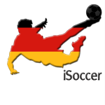 Fussballspieler Silhouette Deutschland iSoccer