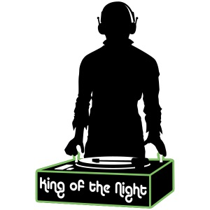 Motif King Of the Night - Disc Jockey