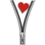 Heart zipper
