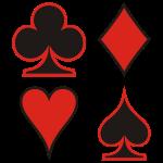 Pokerface Poker Cards Karten Pik Heart Herz Karo Kreuz Cross