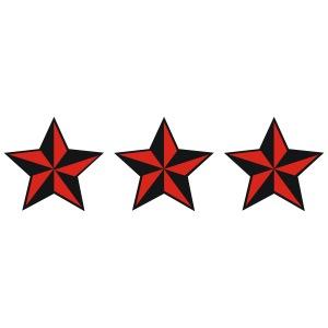 0108 - nautische sterne nautical stars tattoo outlaw zweifarbig