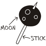 Moon on a Stick (dark background)