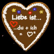 Valentinstag Shirt: Liebe ist... du + ich = liebe hoch 2