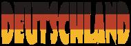 Fan-Shirt: Deutschland Flagge Wort