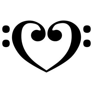 Bassschlüssel-Herz