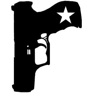 gun with star