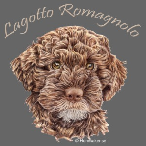 Lagotto Romagnolo med text