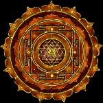 Shri Yantra - amber