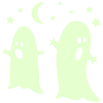 glow in the dark ghosts