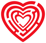 Valentinstag Shirt: herz labyrinth