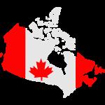 Kanada Flagge Karte