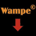 Wampe, mit Pfeil