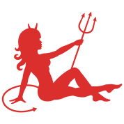 Devil Mudflap Girl
