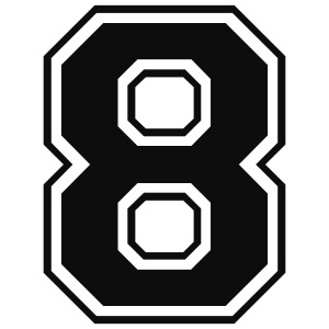 8, acht, nummer, zahl