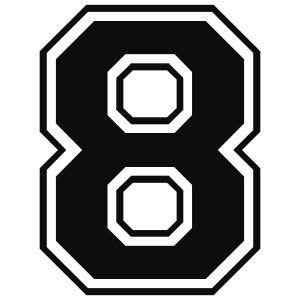 8, otte, nummer, antal