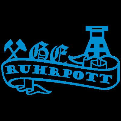 Ruhrpott Banderole - Eine Heimat - eine Liebe - fußball,fussball,Working class,Ultras,Schalke,Ruhrpott,Ruhrgebiet,Nordkurve,Hooligan,Gelsenkirchen