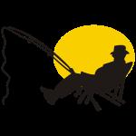 Angler im Liegestuhl
