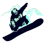Snowboarder Mountain