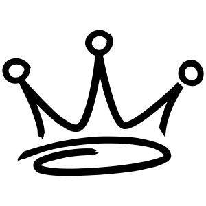 graffiti style crown